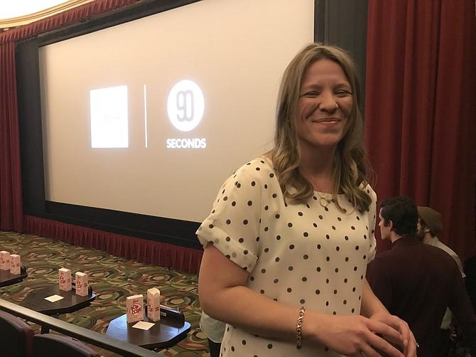 Pamela Mathieson of Burke Commons at the Uber & 90 Seconds Short Film Festival held in San Francisco.