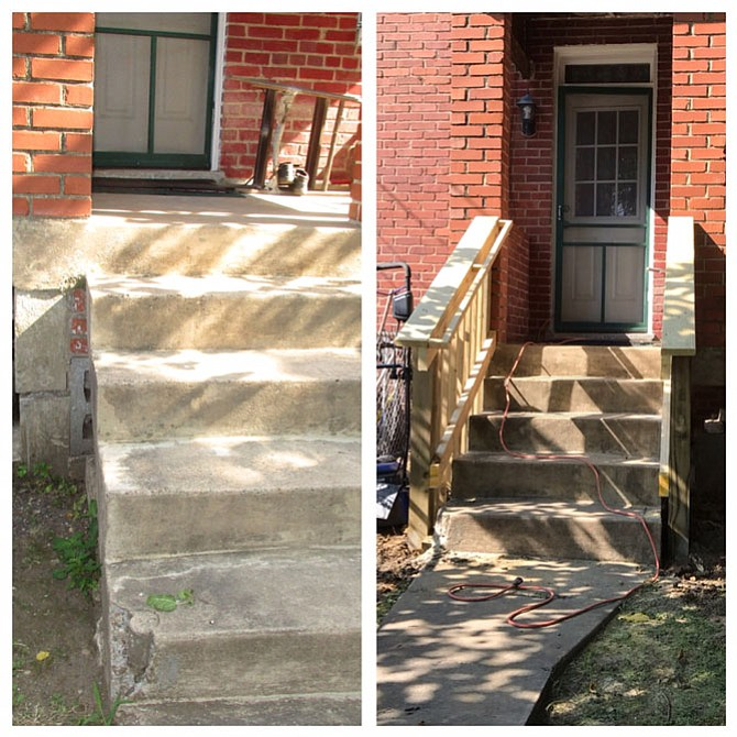 Before and after work by Rebuilding Together Alexandria.