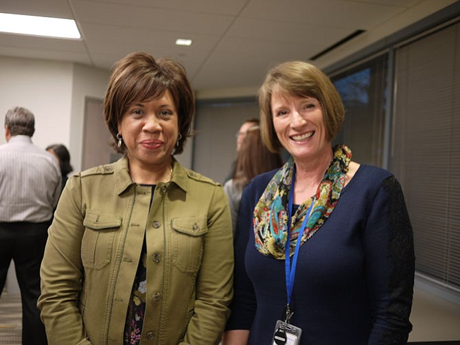 Cynthia Sturdevant, director of operations and compliance at Neighborhood Health with Lisa Gittleman, the new location's family nurse practitioner.