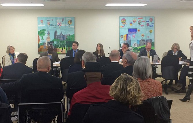 Del. Eileen Filler-Corn co-hosted her annual joint meeting of the Arts Caucus and the Military and Veterans Caucus this session.