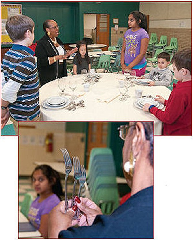 Henryette Neal teaches etiquette classes for children.