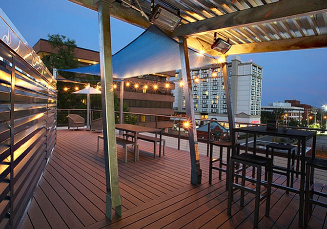Rooftop deck tops the renovations at 1010 N. Fairfax St.