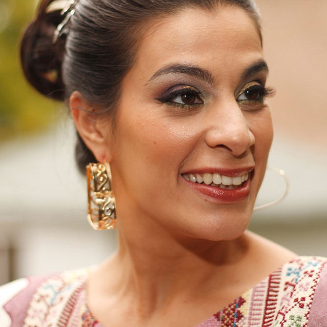 Comedian, actress and advocate Maysoon Zayid performing at Reston Community Center.