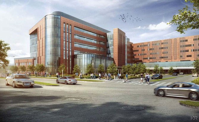 Design for the expanded Virginia Hospital Center.