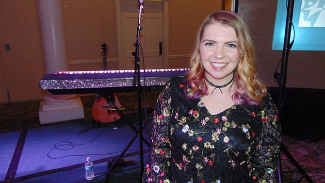 Cristabelle Braden, a singer/songwriter who is also a brain injury survivor.