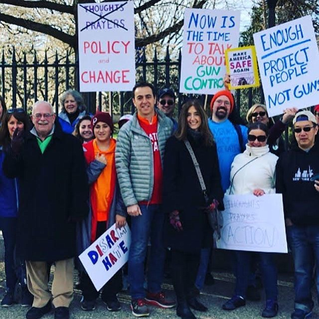 U.S. Rep Gerry Connolly (D-11), Del. Marcus Simon (D-53) and Del. Eileen Filler-Corn (D-41) and others from Fairfax County at the March for Our Lives Saturday, March 24, in Washington, D.C.