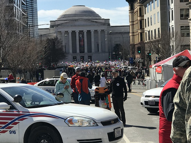 The streets of D.C. were filled with marchers on Saturday.