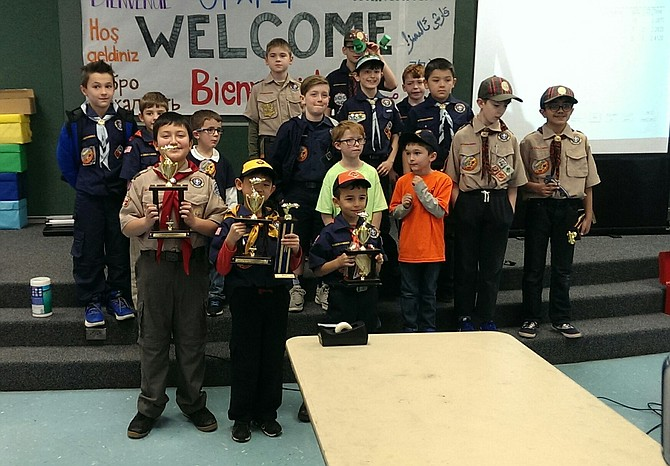 More than 250 Cub Scouts, parents and siblings attended the March 17 Pinewood Derby held at Liberty Middle School.