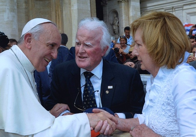 Pat and Bernadette Troy were granted an audience with His Holiness Pope Francis at the Vatican on Sept. 11, 2013.