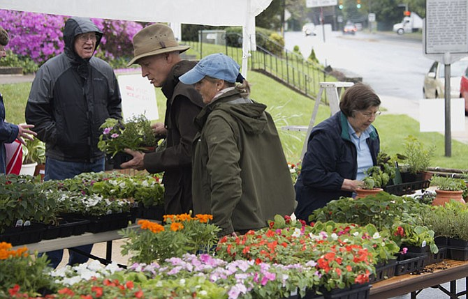 Walker Chapel annual plant sale at Aprilfest.
