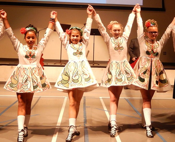 Members of The O'Neill-James School of Irish Dancing.