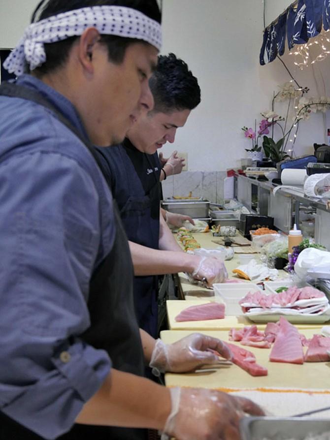 Sushi Zen chefs.