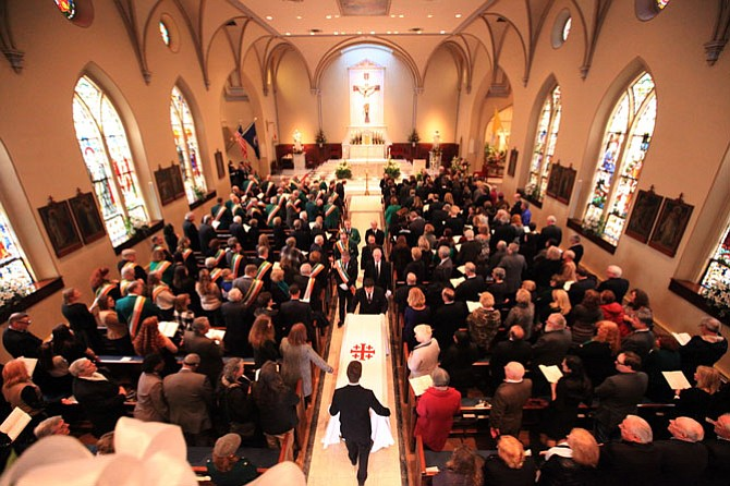 The funeral of Pat Troy at the Basilica of St. Mary, Alexandria, April 7, 2018.