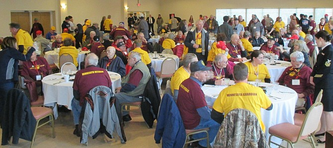 Honor Flight veterans from Minnesota dine at Edward Douglass White Council, Knights of Columbus, 5115 Little Falls Road.