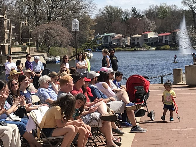 Music is always good on a beautiful afternoon at Lake Anne, especially on Founder's Day.