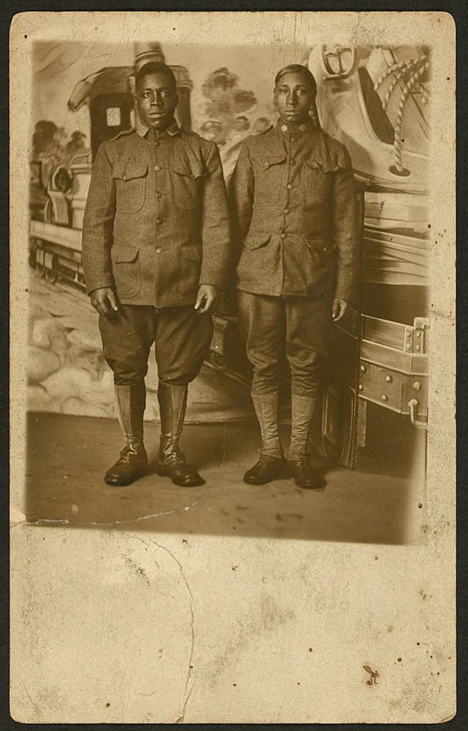 Two African Americans of World War I.