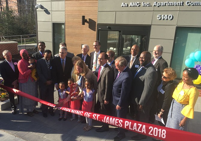 AHC, a nonprofit housing developer, celebrated the grand opening of 93 new apartments on Saturday, April 11. The new units, built on land sold to AHC by St. James United Methodist Church, will serve moderate-income households.
