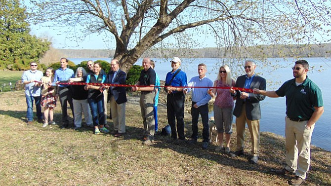 The official ribbon-cutting ceremony for the purchase of the Stribling property at Pohick Bay Regional Park.