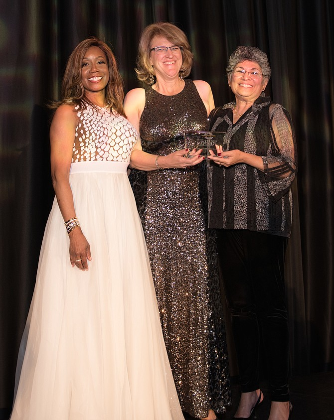 (From left) Charlene Wheeless, Best of Reston Co-Chair, Bechtel (2016 Best of Reston Honoree), 2018 Best of Reston Presenting Sponsor, Marybeth Haneline, Honoree and Leila Gordon (2016 Honoree), Reston Community Center, 2018 Best of Reston.