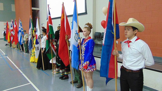 The Parade of Flags and Countries.