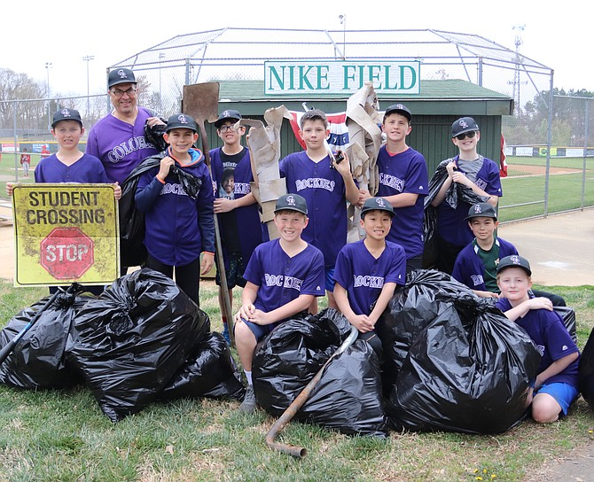 After more than two hours, the team collected more than 10 huge bags of trash, plus miscellaneous debris, which were discarded in the Forestville dumpster.