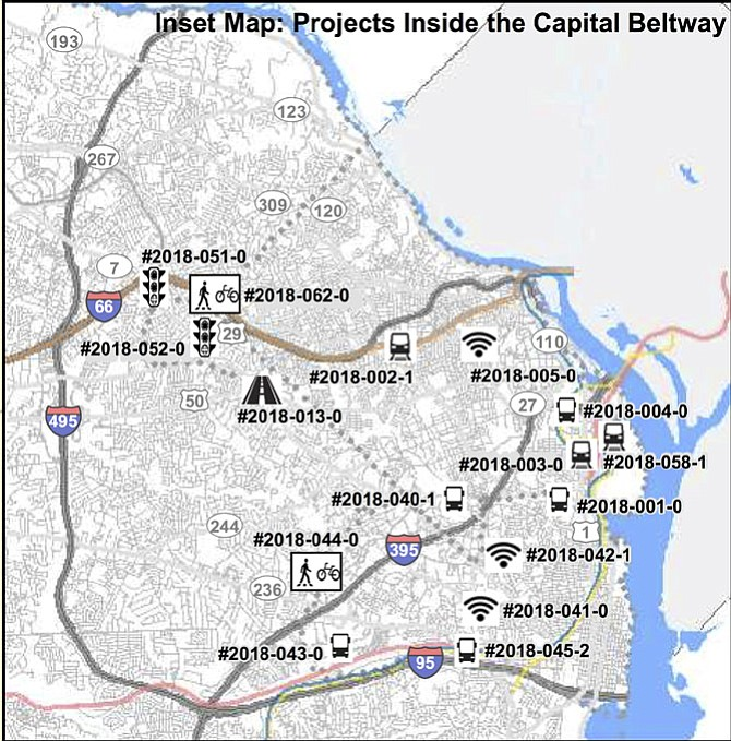 Transportation-related infrastructure candidate projects, requesting a total of $2.5 billion through FY23 from the Northern Virginia Transportation Authority (NVTA), are competing for $1.3 billion in funds actually available. That figure is reduced from $1.4 billion, as a result of recent action by the House of Delegates relating to dedicated funding for Metro. Alexandria has requested $88 billion for 6 projects, principally bus rapid transit (BRT) in the West End.