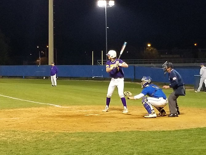 Lake Braddock's Jack Darcy hit a home run and drove in four runs against Robinson on April 30.