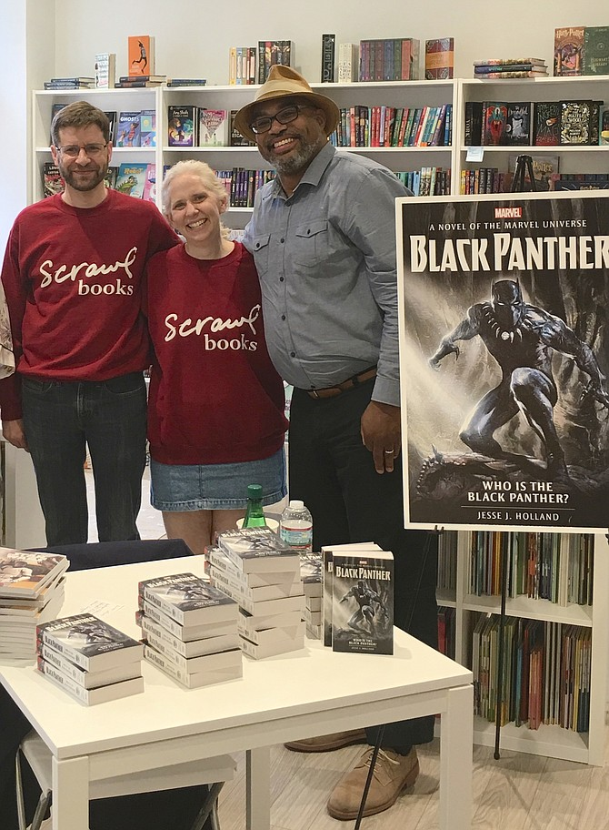 Last weekend, Scrawl Books hosted an event with author Jesse J. Holland.