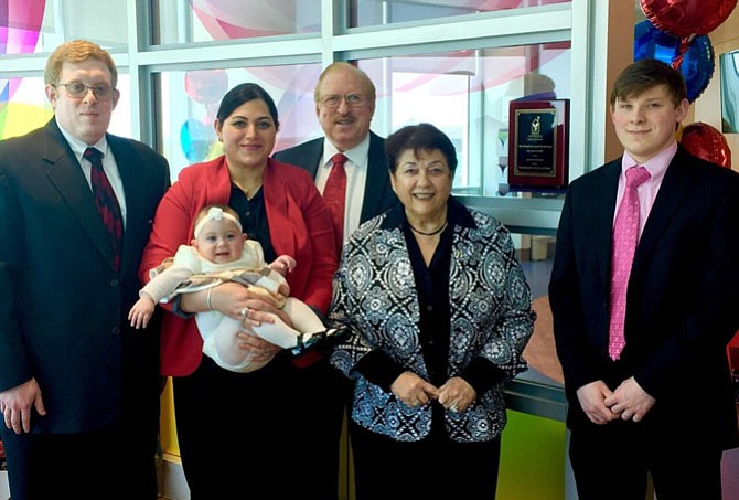 The new Ronald McDonald Family Room was made possible by a donation from Syed and Sadia Anderabi, who were in attendance with their family.