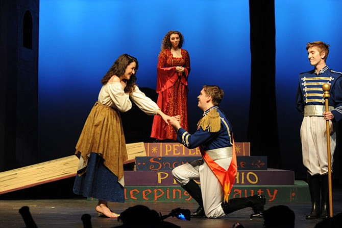 From left: Jena Richardson, Audrey Wever, Brenden Blackwell and Steven Sayers in the West Springfield High School's production of 'Into the Woods.'
