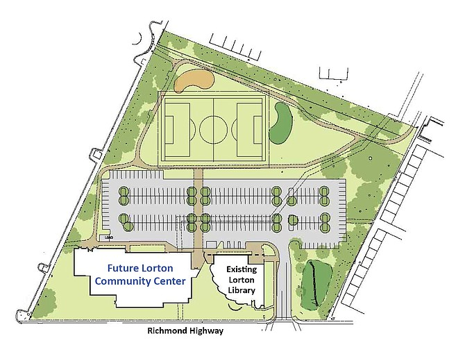 The Lorton Community Center plans unfolded as a tool for the community.