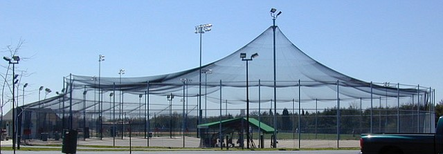 The Dug Out batting cages at Braddock Park, 13451 Braddock Road, Clifton.