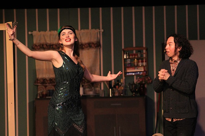 "Belle Perkins and Ethan Chow in Wakefield High School's production of ""The Drowsy Chaperone"" on May 5."