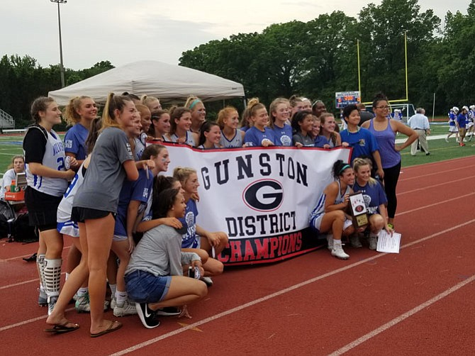 The West Potomac girls' lacrosse team defeated T.C. Williams 19-9 on Tuesday to win the Gunston District championship.