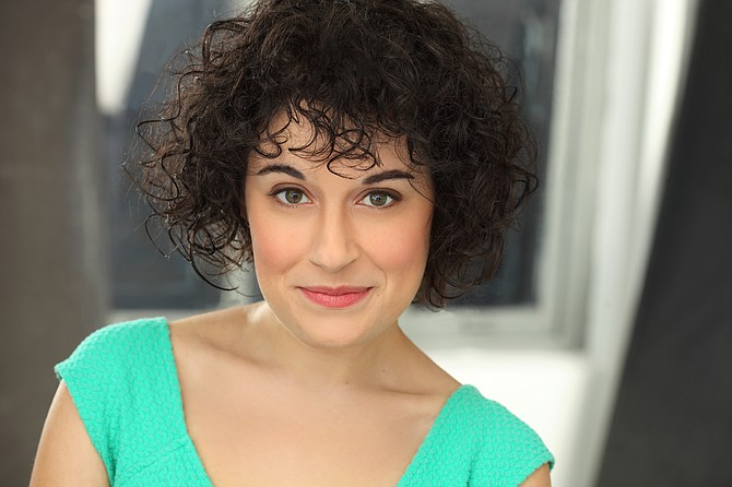 "Sophie Schulman portrays Daphna in NextStop's production of ""Bad Jews."""