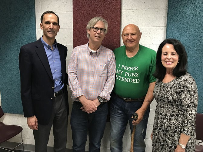Supervisor Dan Storck, Mount Vernon Voice co-publisher Steve Hunt, Former Supervisor Gerry Hyland, and Mount Vernon Voice co-publisher Marlene Miller.