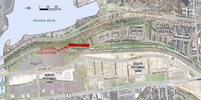 Plans for the Potomac Yard Metro Station.