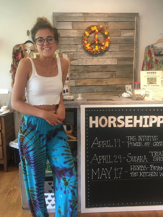 Centreville High School senior Chloe Ross, 18, has a summer job at Horse Hippie until she heads off to Virginia Tech to pursue a degree in fashion.