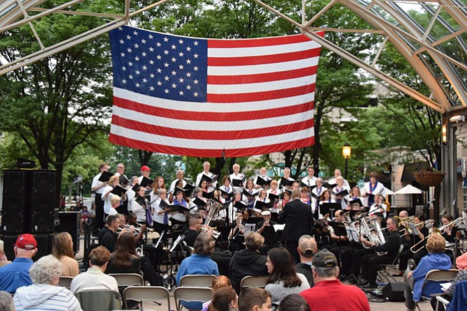 The Reston Chorale and Brass of the Potomac will present a free concert of patriotic music on A Star-Spangled Salute on Saturday, May 26 at Reston Town Center.