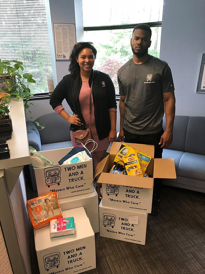 The nonprofit FACETS collected donations received from the Movers for Moms campaign.