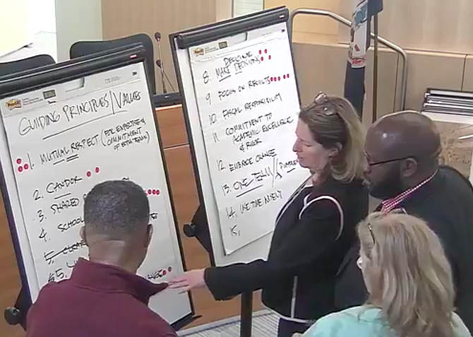 "At a joint ""visioning"" session last Saturday, City Council and School Board members honed the core values that they want to guide a new season of collaboration."