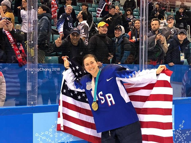 2018 US Women's Olympic team forward Hayley Skarupa.