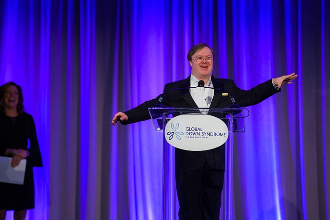 Frank Stephens of Fairfax at the Global Down Syndrome Foundation's AcceptAbility Gala in D.C.