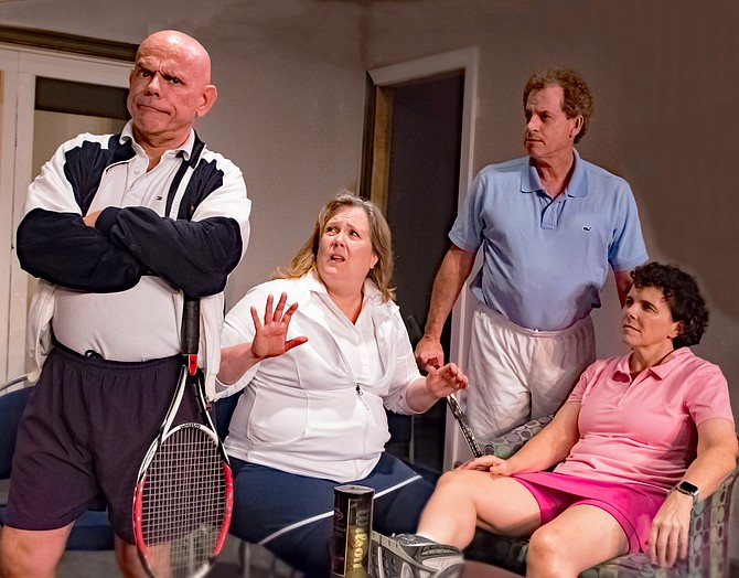 """From left: Mario Font, Laura Champe Mitchell, Lou Lehrman and Allison Turkel are the visitors from Chicago in Neil Simon's comedy """"California Suite."""""""