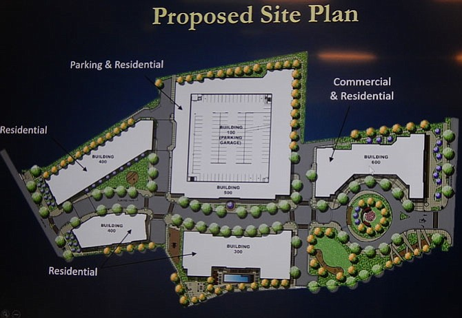 The revised Fairfield (formerly Novus Fairfax Gateway) site plan.
