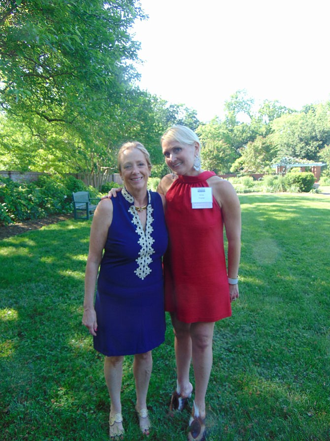 Mount Vernon at Home's former Executive Director Barbara Sullivan (left) and new Executive Director Erica Frazier.