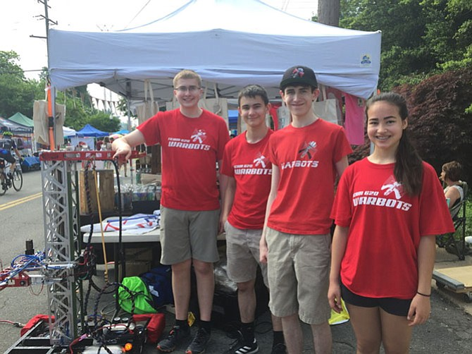 2018-19 Madison Robotics Officers, from left: John Link (President); Alec Sabia (General Manager); Nicholas Dilauro (President); and Christina Luckett (General Manager).