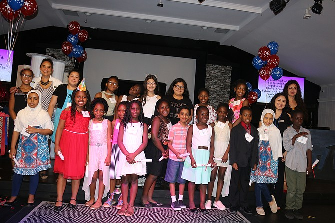 Some of the youths from FACET's recent academic achievement party.