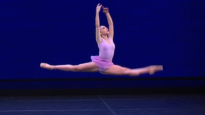 Emilie Gregory performing at YAGP in Philadelphia, where she placed top 12 in the Junior Contemporary Category.