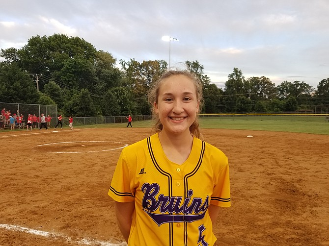 Lake Braddock senior Ally Kurland went 3 for 3 in her final high school game.